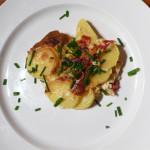 Gratinované brambory, francouzské brambory mírně po česku s příchutí Španělska