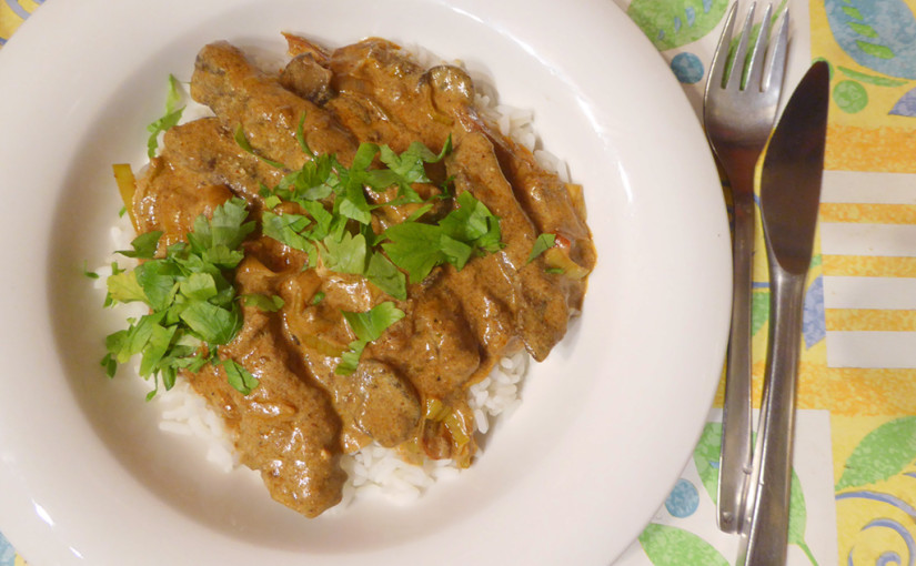 Hovězí nudličky s rýží, žampiony, pórkem a paprikou | 2.varianta