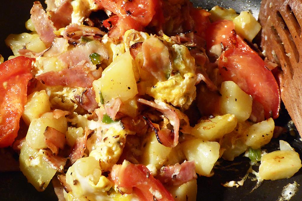 Záleží jenom na vás, co si do omelety naskládáte...