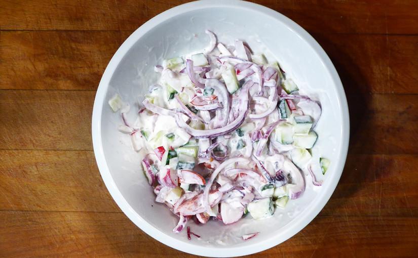 Dipový zeleninový salát | Samostatně i spolu