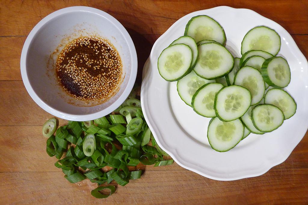 Okurkový salát- ingredience
