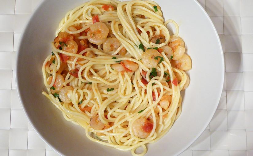 Špagety skrevetami arajčátky