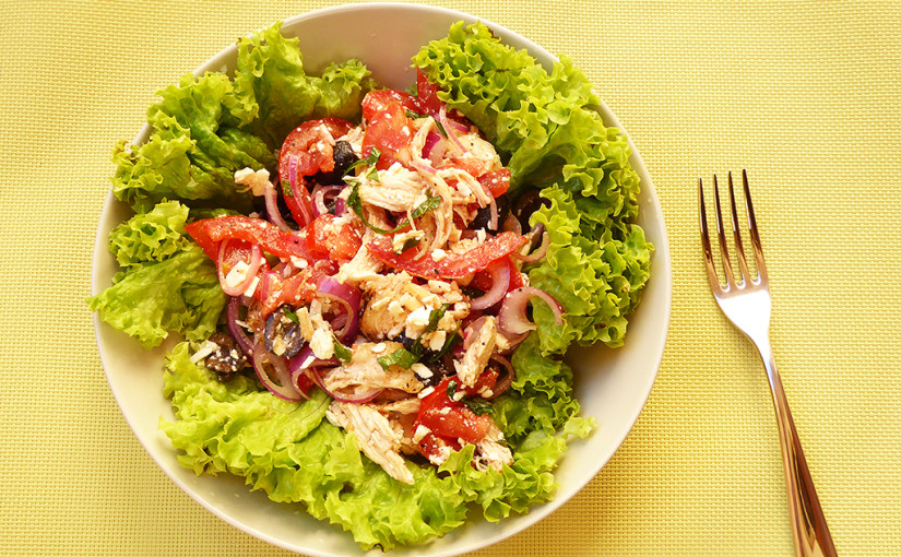 Skorořecký chicken salad with tomatoes | reminiscence holiday