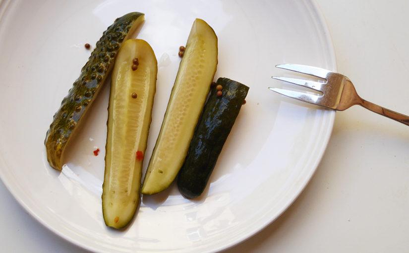 Jednodenní  nakládané okurky | Pánská jízda 1