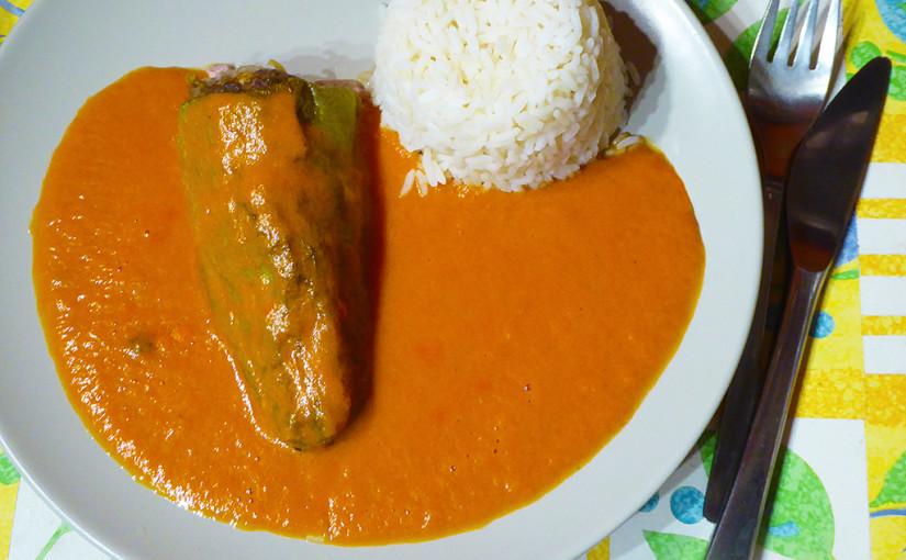 Papriky plněné a s rýží