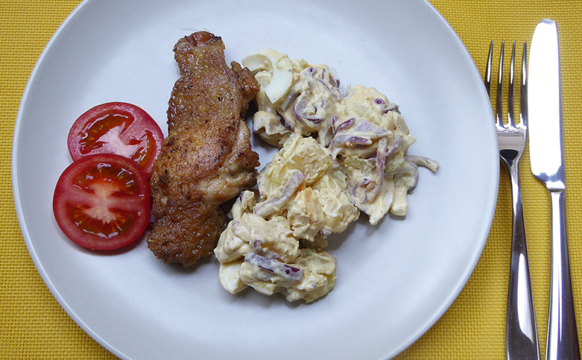Rosemary chicken with potato salad