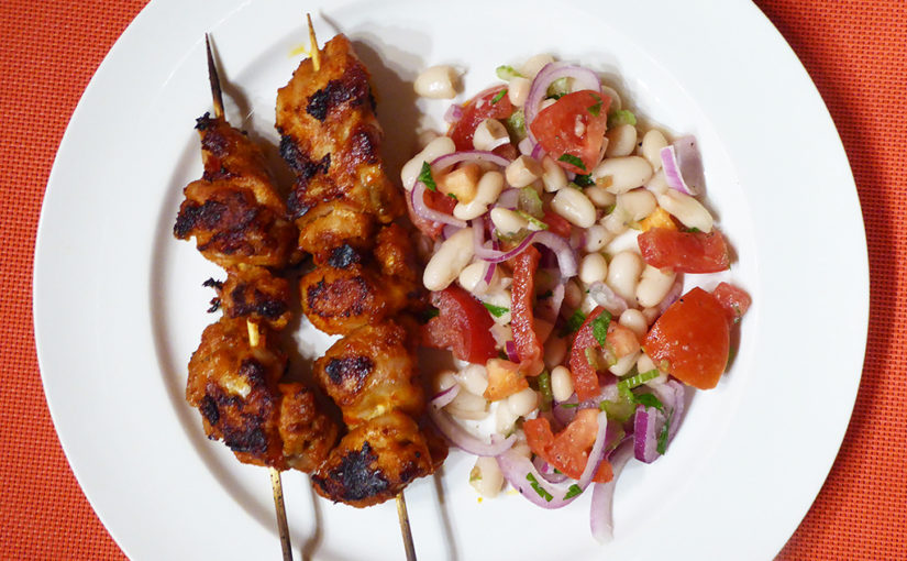 Chilli chicken skewers,cs