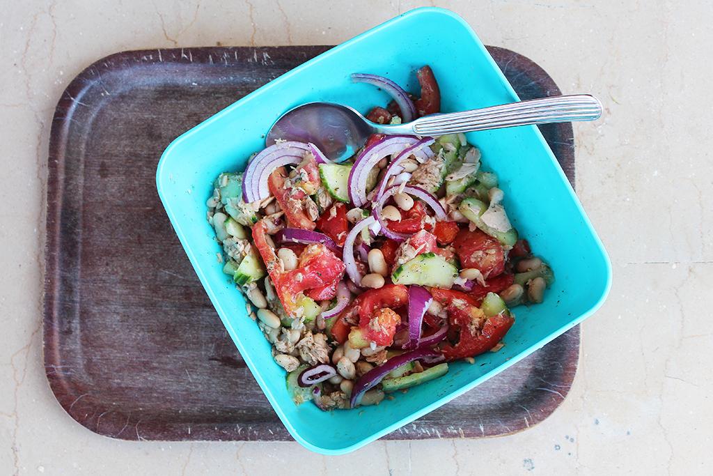 Piknikový salát s fazolemi