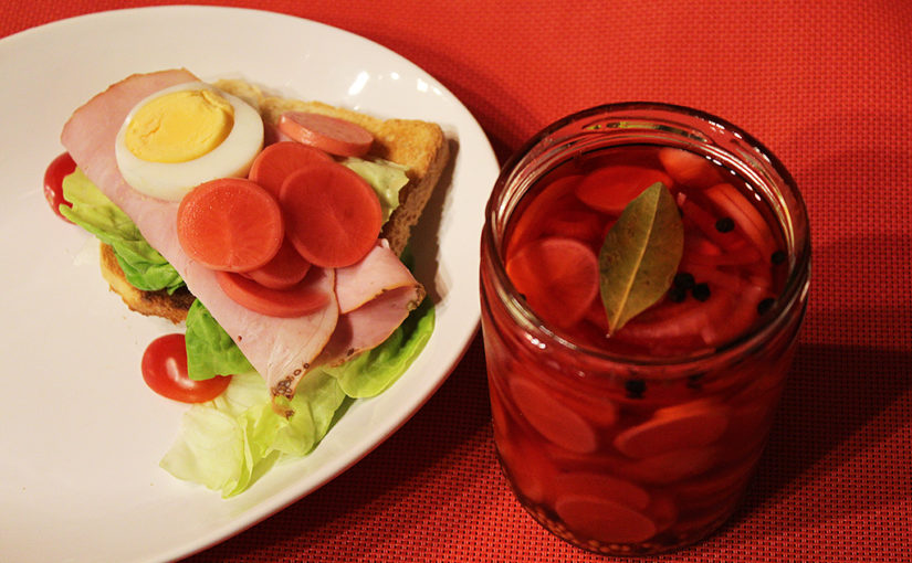 pickled radish | The sky a sandwich spicy vegetables