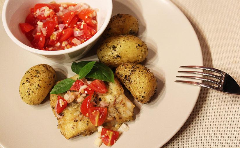 Treska sčerstvou rajčatovou salsou | Filé je milé