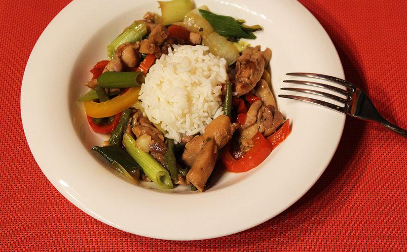 Restované kuře se zeleninou | Asijská kuchyně jen tak zhlavy