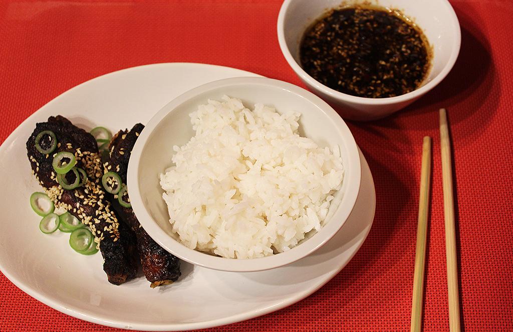 S rýží a dipem
