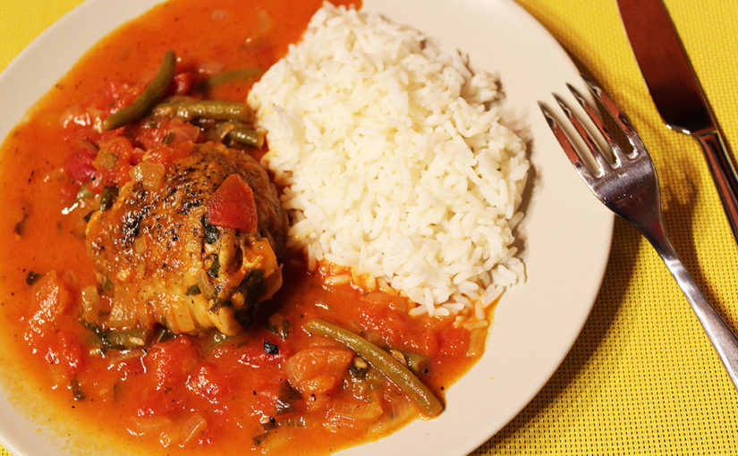 Stewed chicken in Italian | Malay-Californian inspiration to Czech Republic | And there are even beans,cs