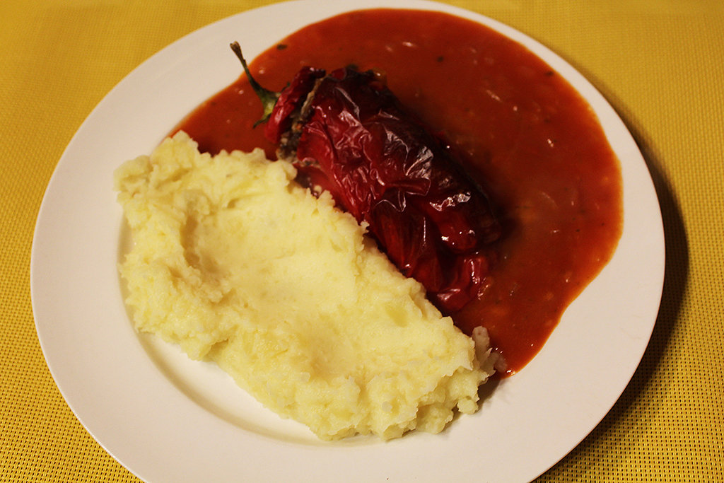 Mashed potatoes as an attachment
