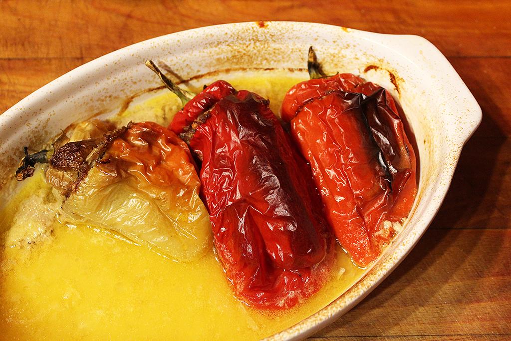 Papriky v misce