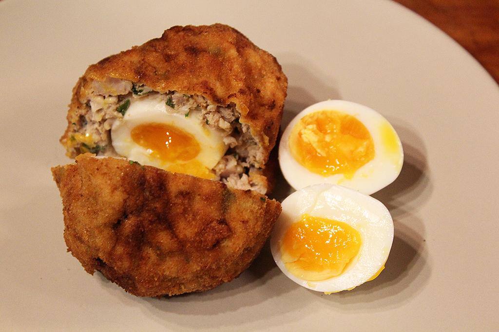 Skotské vejce a vařené
