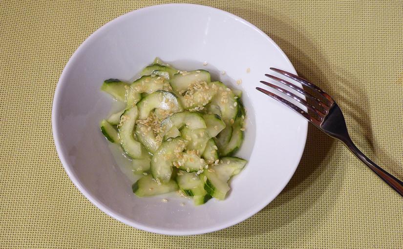 Japonský okurkový salát | Zkouška chutí | 日本のキュウリのサラダ