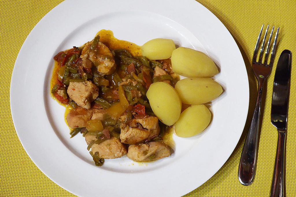 Podáváme s vařenými bramborami