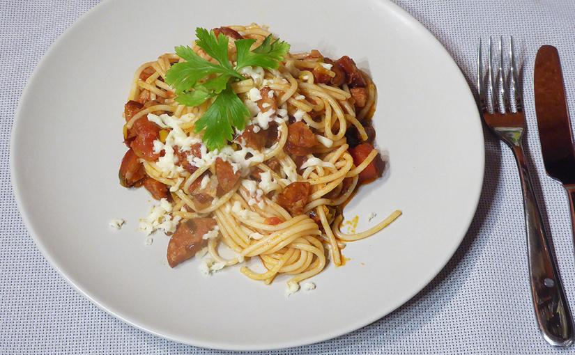 Rychlé špagety srajčaty amozzarellou | Záchrana na poslední chvíli