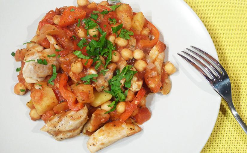 Vše vjedné pánvi: kuře scizrnou arajčaty | Inovace sbramborami