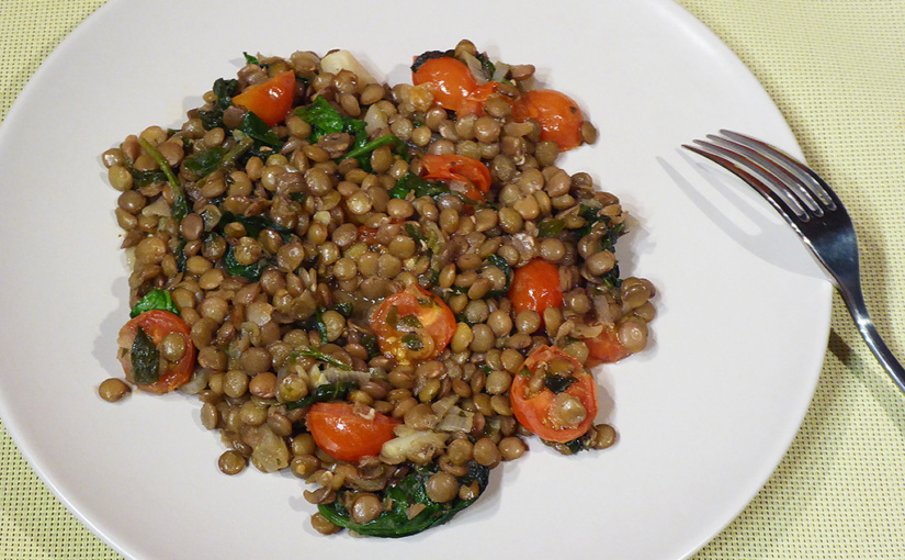 Herb lentils with spinach and tomatoes | New Year's affair