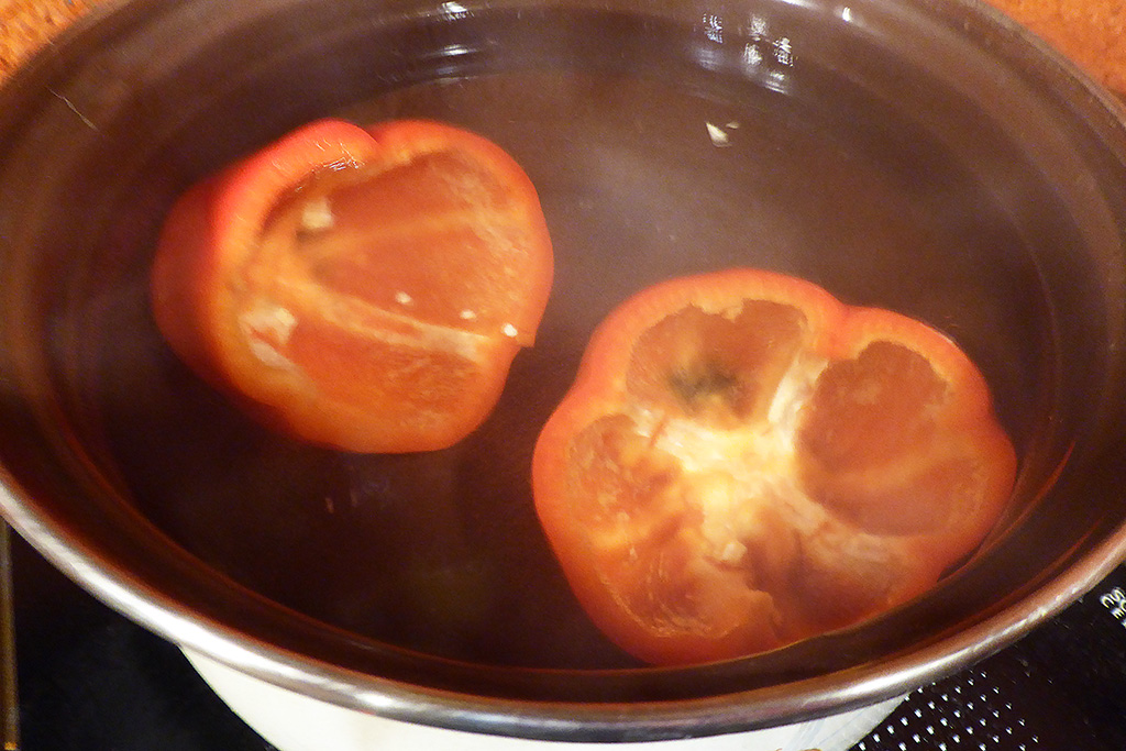 Blanžírujeme papriky