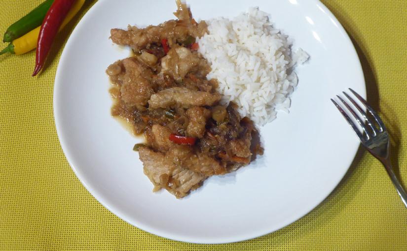 Vepřové stripsy s rýží | Poločína