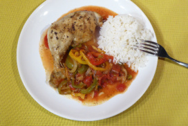 Basque Czech style chicken with rice