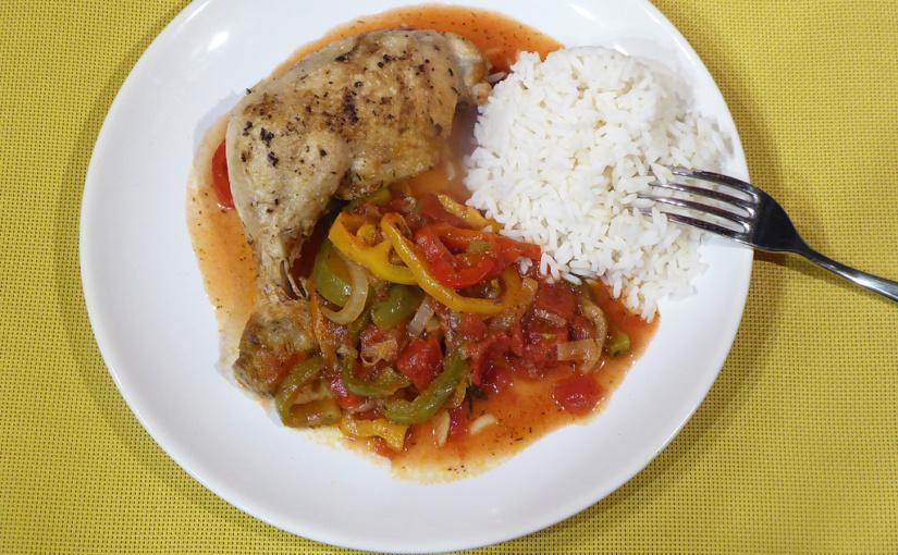Baskické kuře počesku | Cesta za chutí