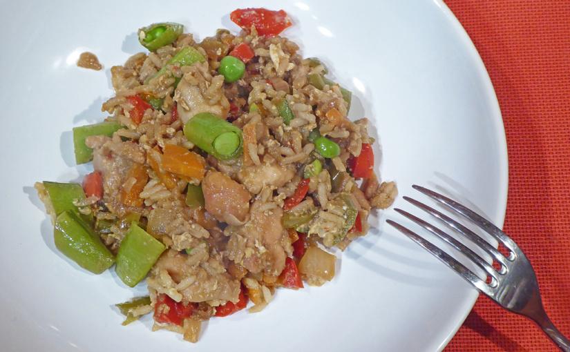 Restované kuře se zeleninou a rýží | Něco na čínský způsob v české kotlině