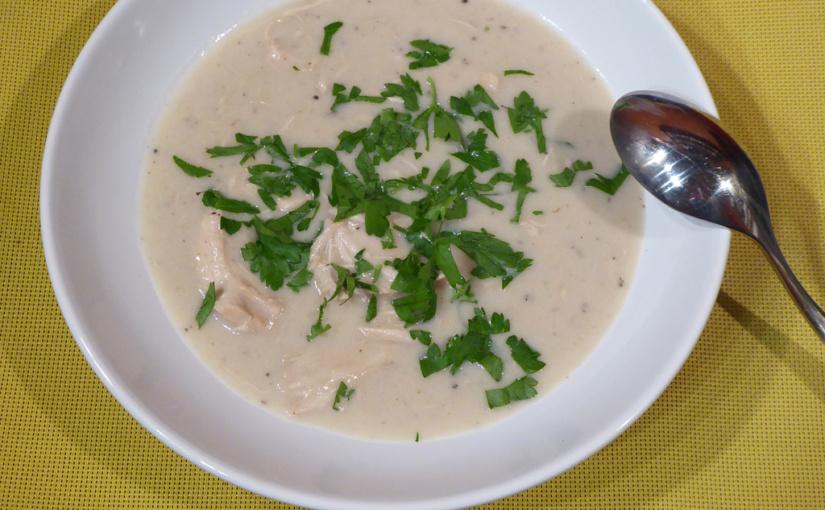 Krémová kuřecí polévka | Alternativa pro kuřecí polévku zvývaru