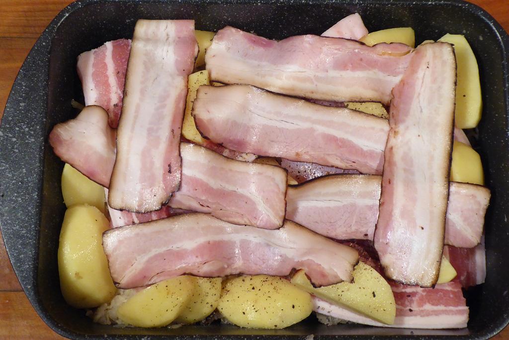 Položíme slaninu