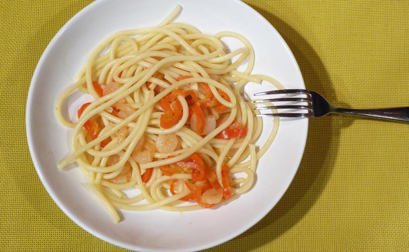 Krevety skapií abucatini | Variace pro rychlou večeři