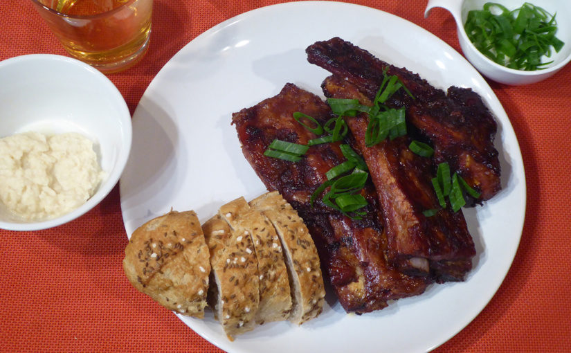 Marinated pork ribs | At home, as in a pub