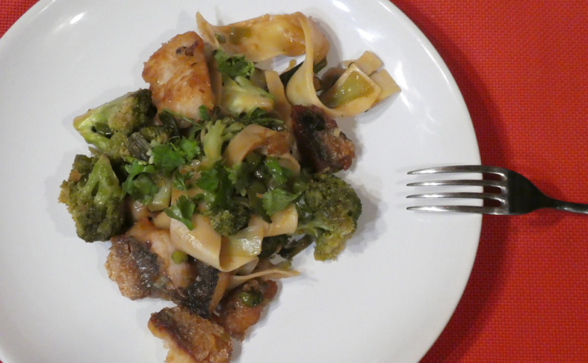 Garfish with peas and broccoli | Asia home