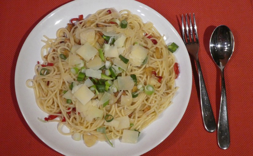 garlic spaghetti | Garlic, oil and hot pepper